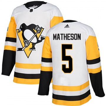 Authentic Adidas Men's Mike Matheson Pittsburgh Penguins Away Jersey - White