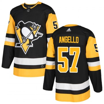 Authentic Adidas Youth Anthony Angello Pittsburgh Penguins Home Jersey - Black
