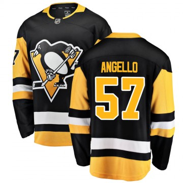 Breakaway Fanatics Branded Men's Anthony Angello Pittsburgh Penguins Home Jersey - Black