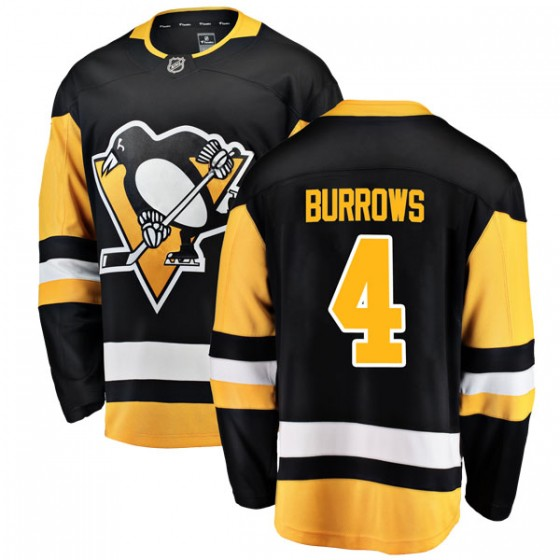 Breakaway Fanatics Branded Men's Dave Burrows Pittsburgh Penguins Home Jersey - Black